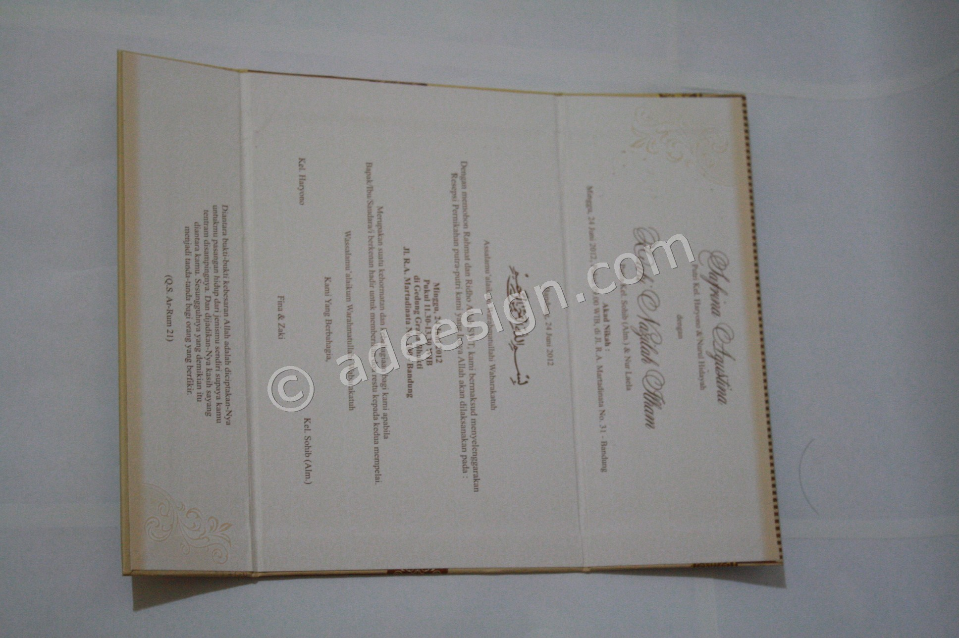 Percetakan Wedding Invitations Unik dan Murah di Kupangkrajan