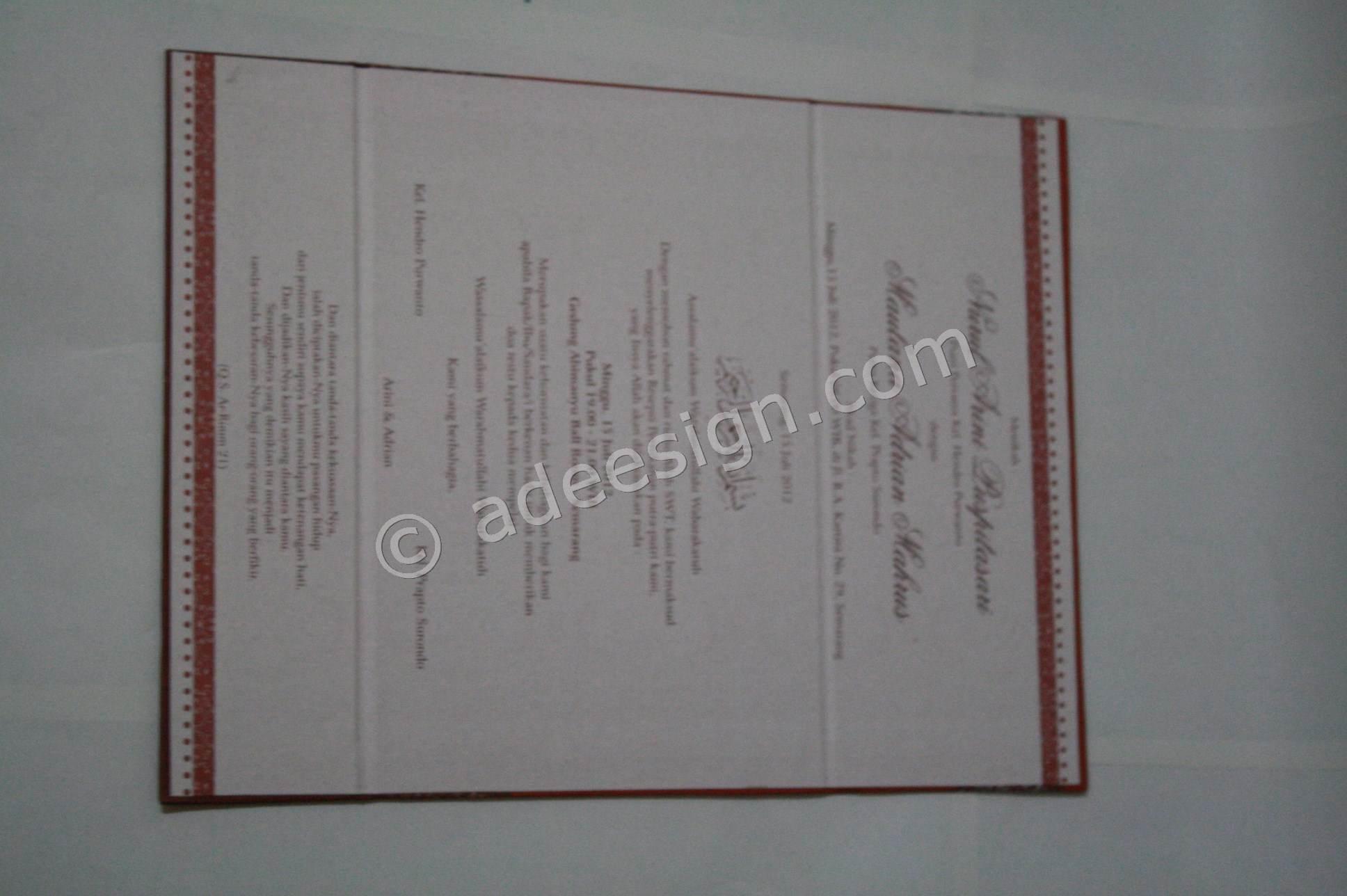 Kartu Undangan Pernikahan Hard Cover Arini dan Adrian 4 150x150 Kartu ...