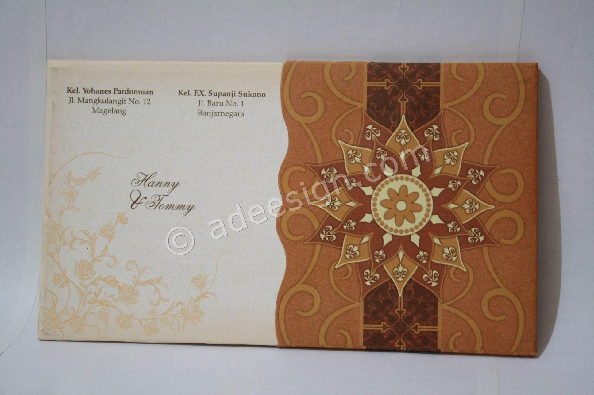 Spesifikasi kartu undangan pernikahan hardcover Hanny dan Tommy