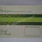 Kartu Undangan Pernikahan Hardcover Indah dan Wendy