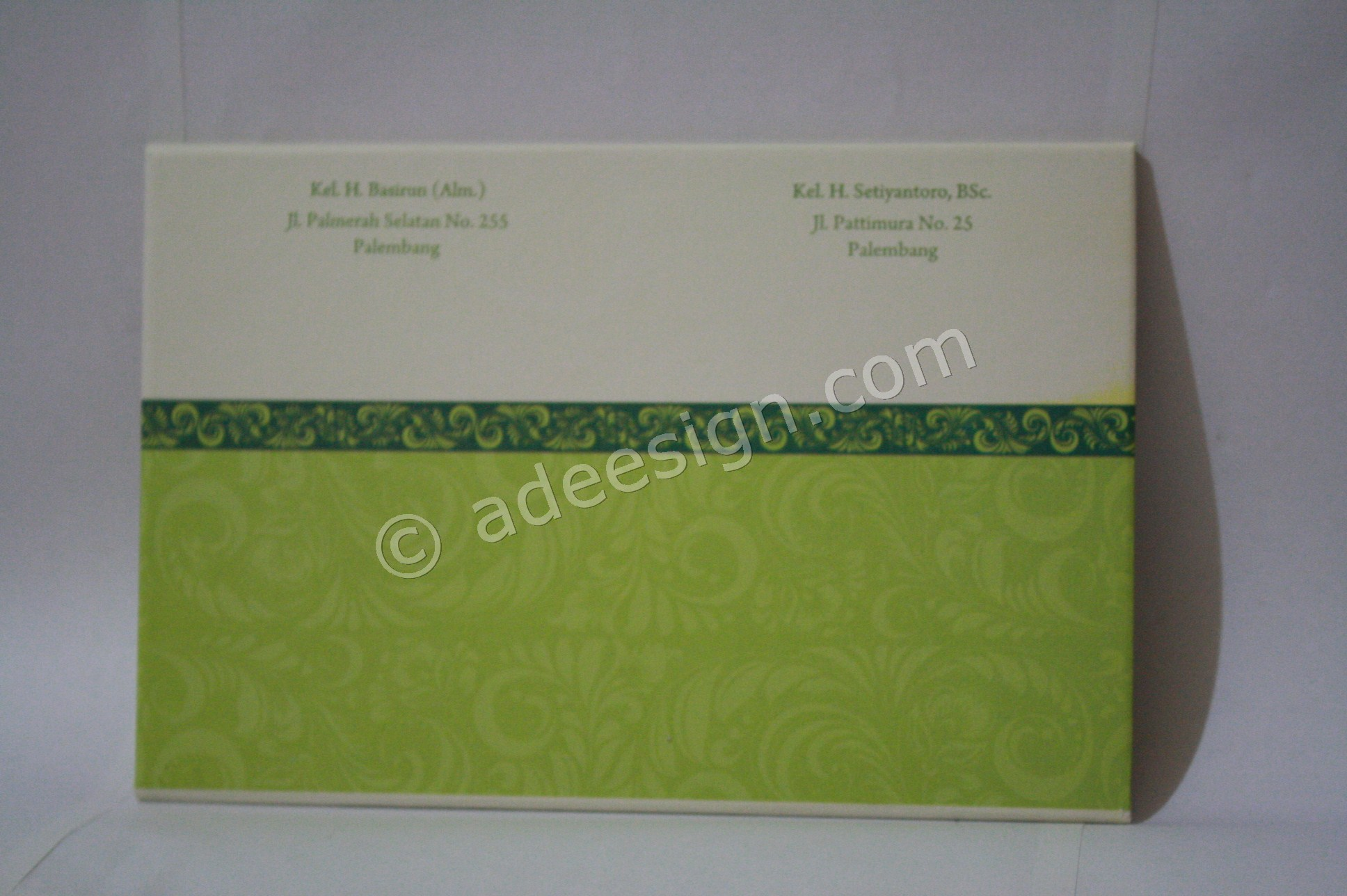 Kartu Undangan Pernikahan Hard Cover Indah dan Wendy 2 - Percetakan Wedding Invitations Unik dan Simple di Simomulyo