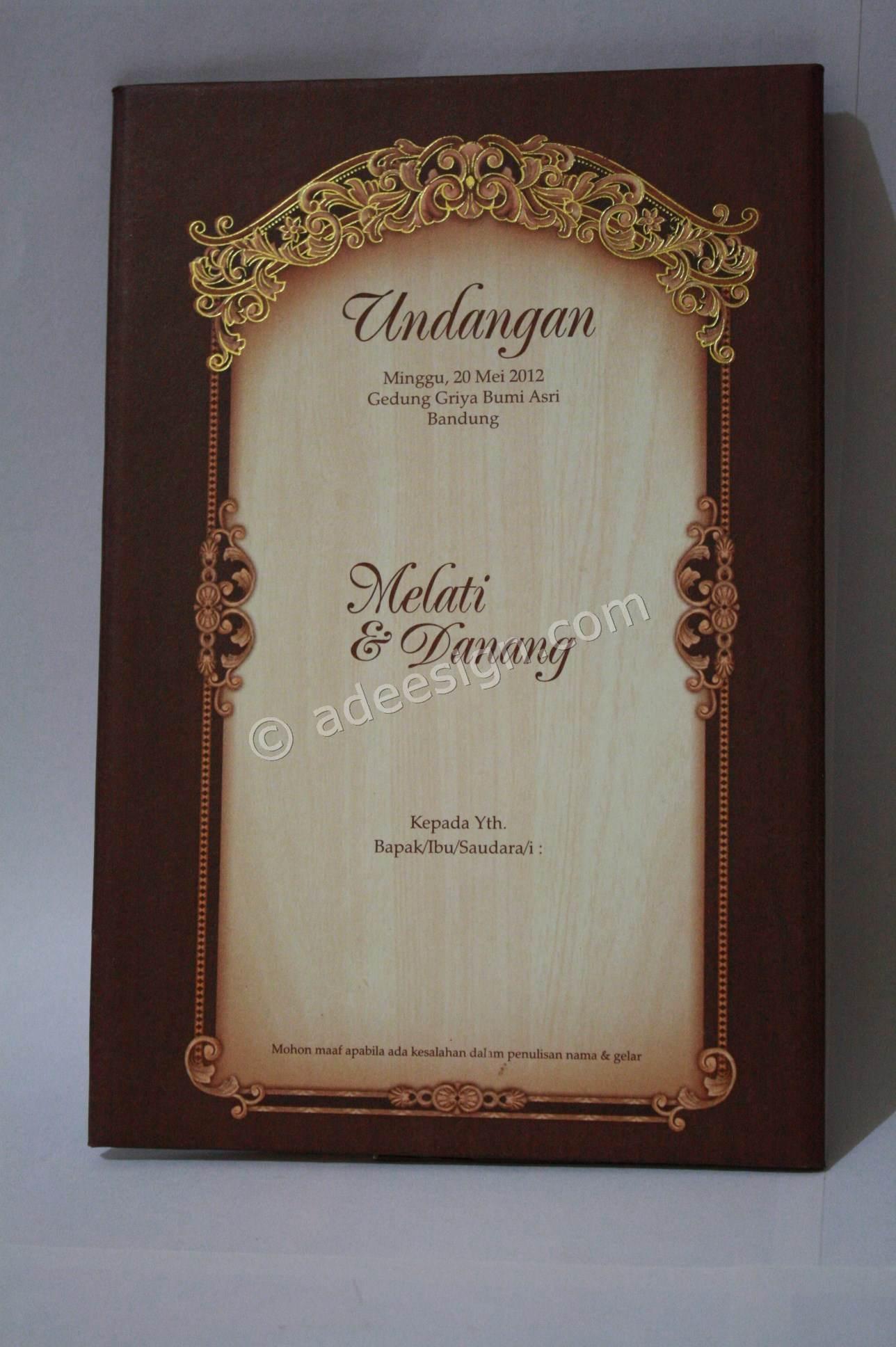 Kartu Undangan Pernikahan Hard Cover Melati dan Danang 1 150x150 Kartu ...