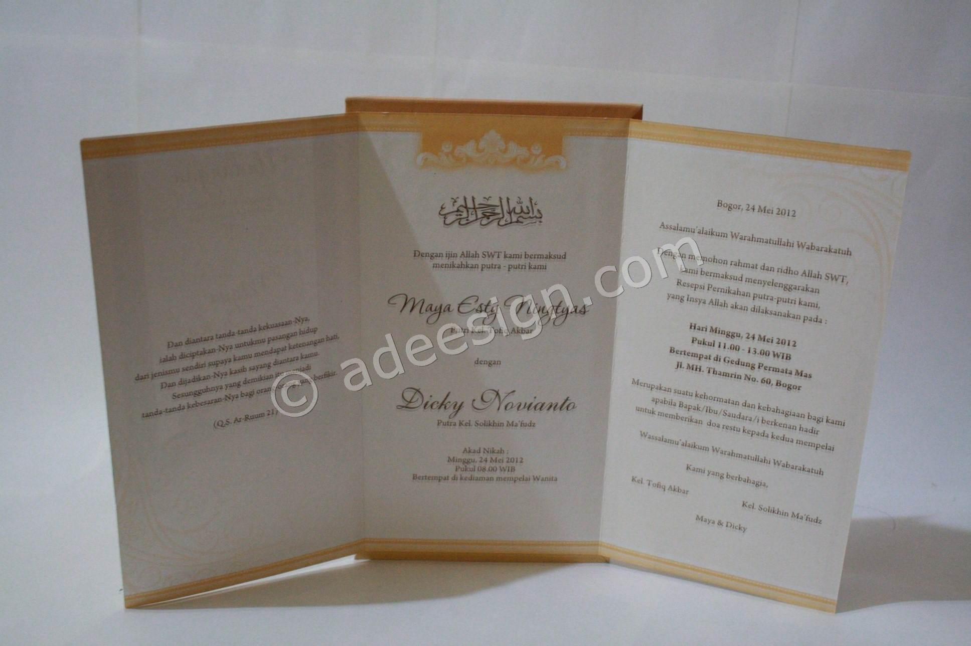 ... Kartu Undangan Pernikahan Semi Hardcover Maya dan Dicky undangan