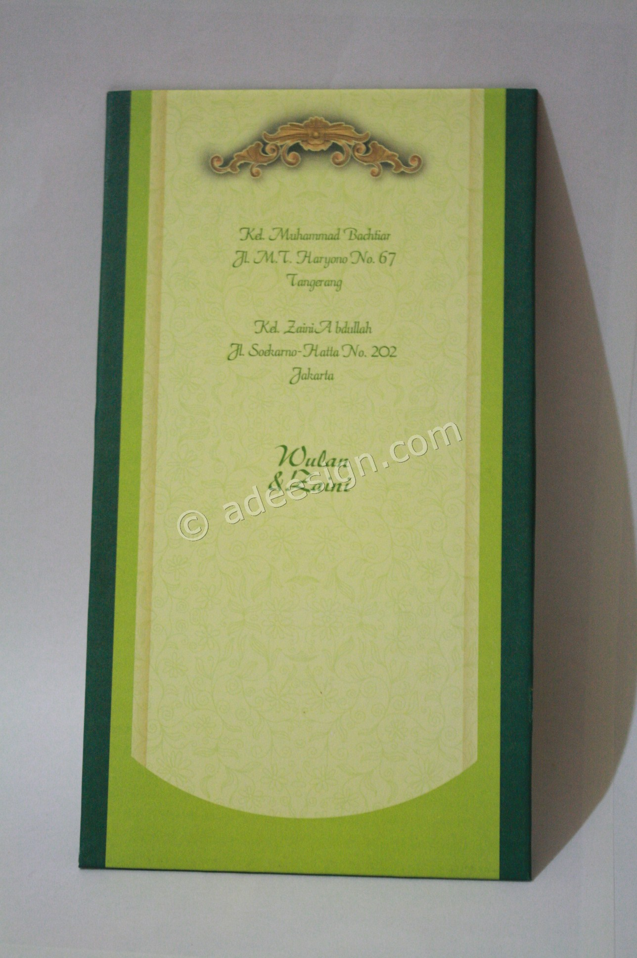Kartu Undangan Pernikahan Semi Hard Cover Wulan dan Zaini 2 - Membuat Wedding Invitations Simple di Dr. Sutomo