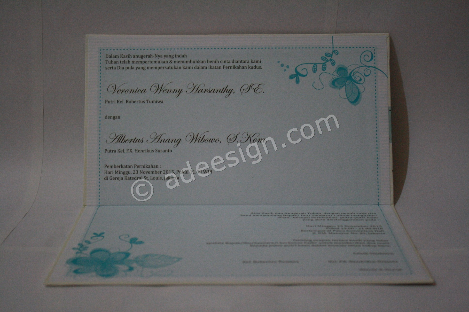 Undangan Pernikahan Hard Cover Wenny dan Anang 3 - Tips Mencetak Wedding Invitations Simple