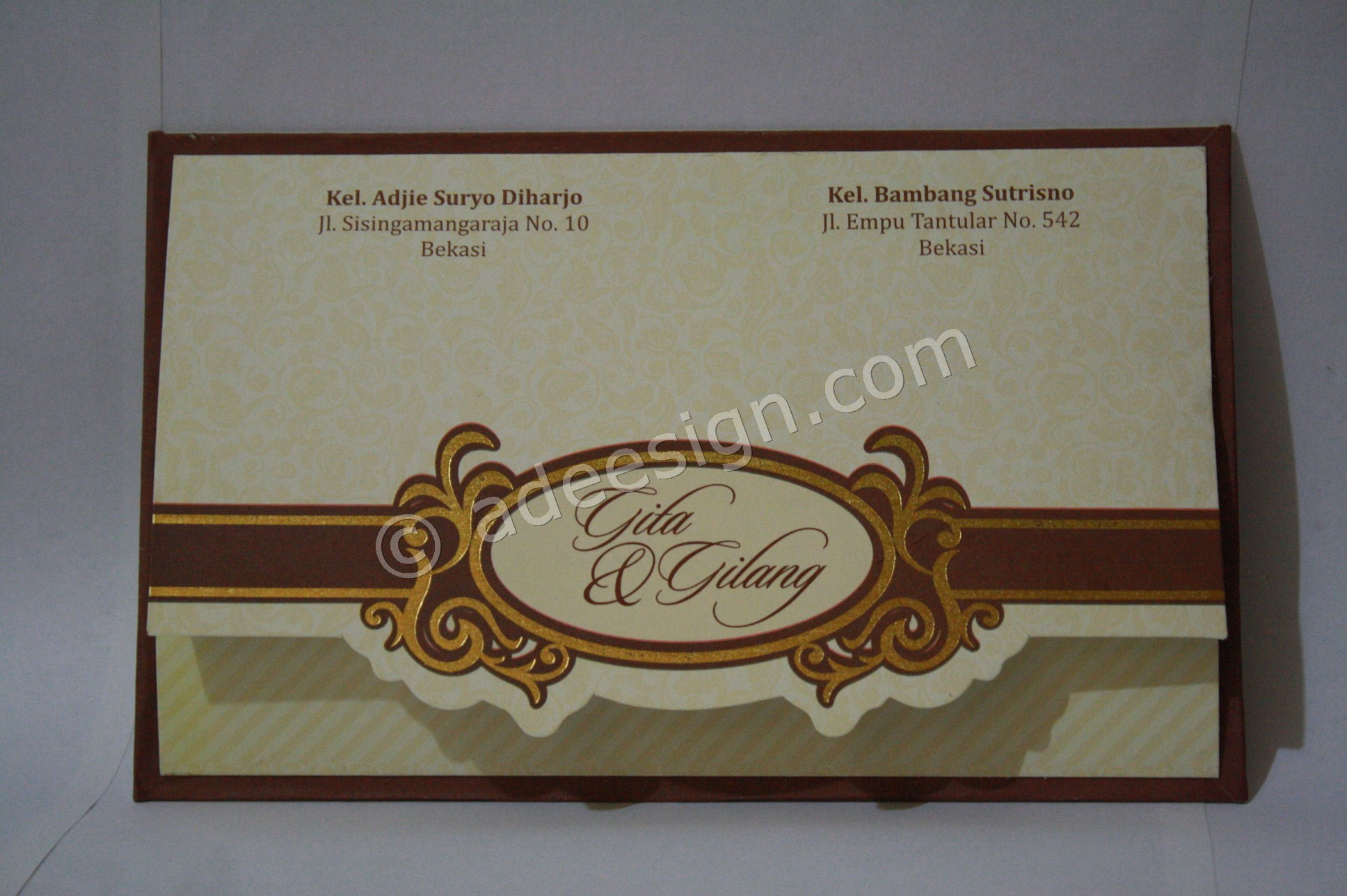 Undangan Pernikahan Semi Hard Cover Gita dan Gilang 1 - Pesan Wedding Invitations Simple di Ploso