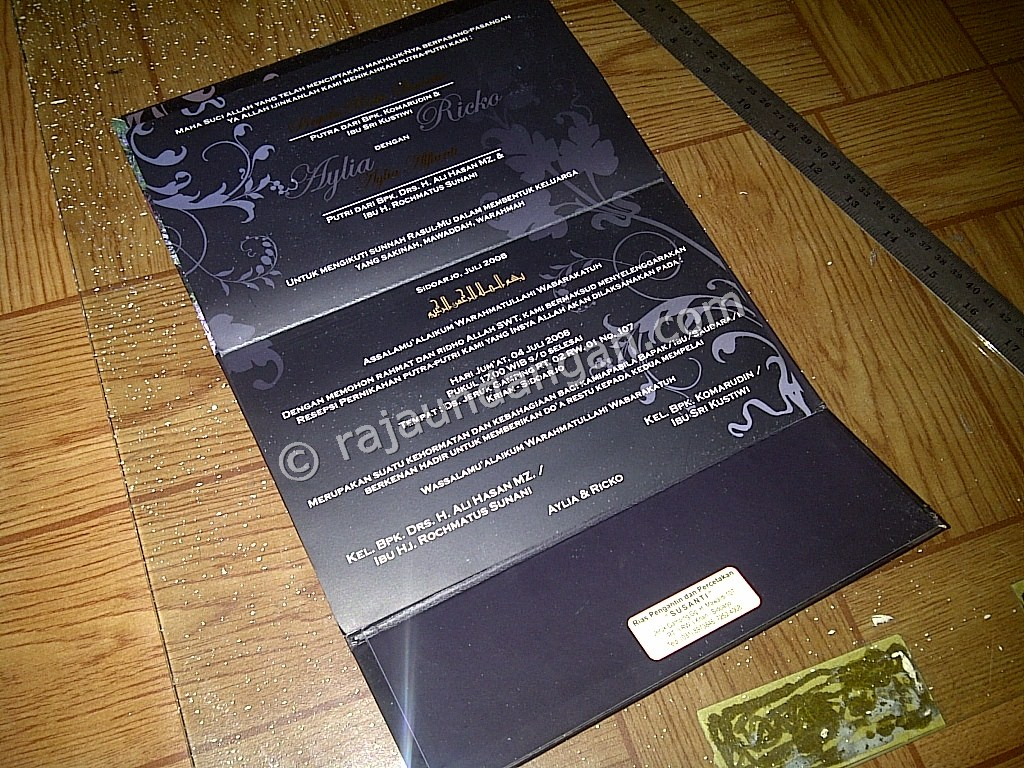 Undangan Pernikahan Hardcover Kalender Ricko dan Aylia 5 - Desain Wedding Invitations Unik dan Simple