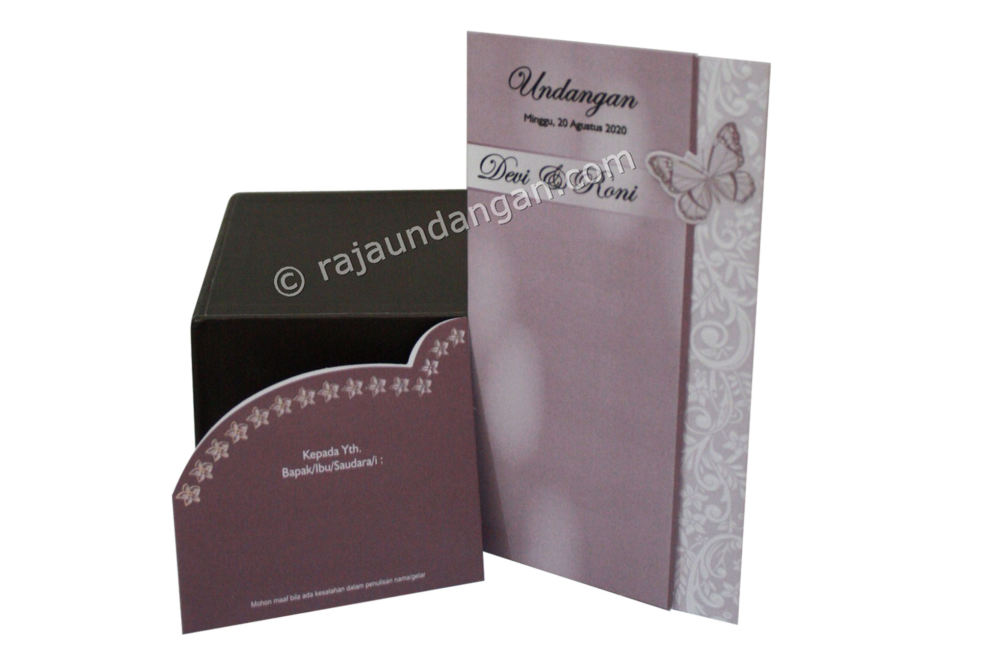 Undangan Pernikahan Softcover Anto dan Ani 3 - Pesan Wedding Invitations Simple di Ploso