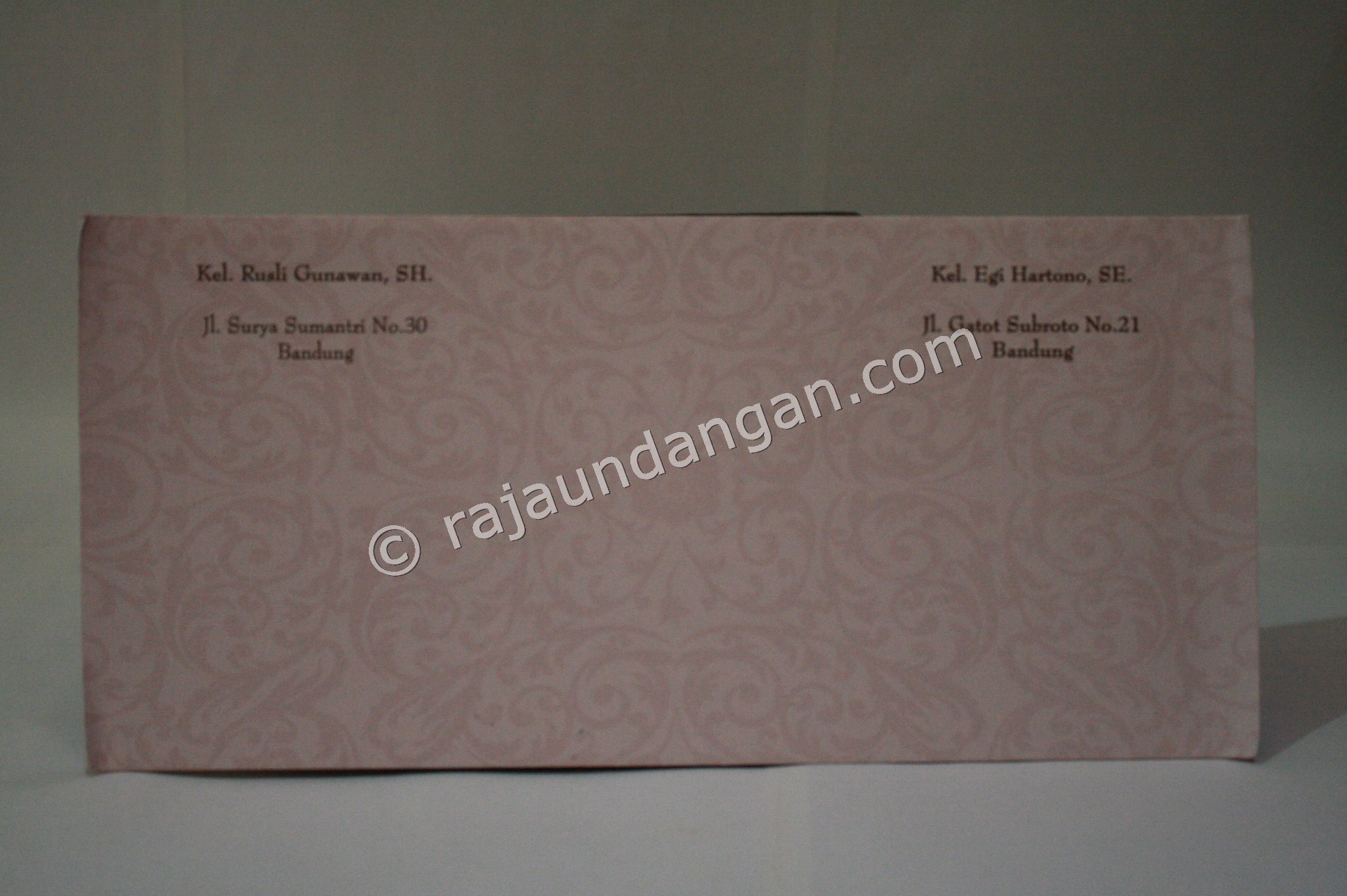 Undangan Pernikahan Softcover Dewi dan Roni 2 - Percetakan Wedding Invitations Unik dan Simple di Simomulyo