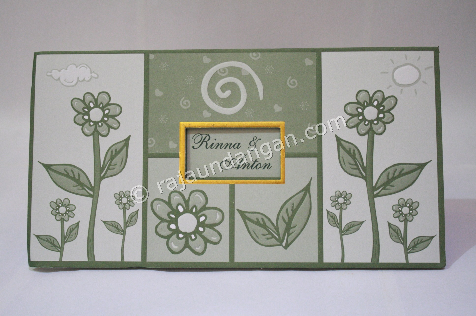 Undangan Pernikahan Softcover Rinna dan Anton 1 - Membuat Wedding Invitations Simple di Simokerto