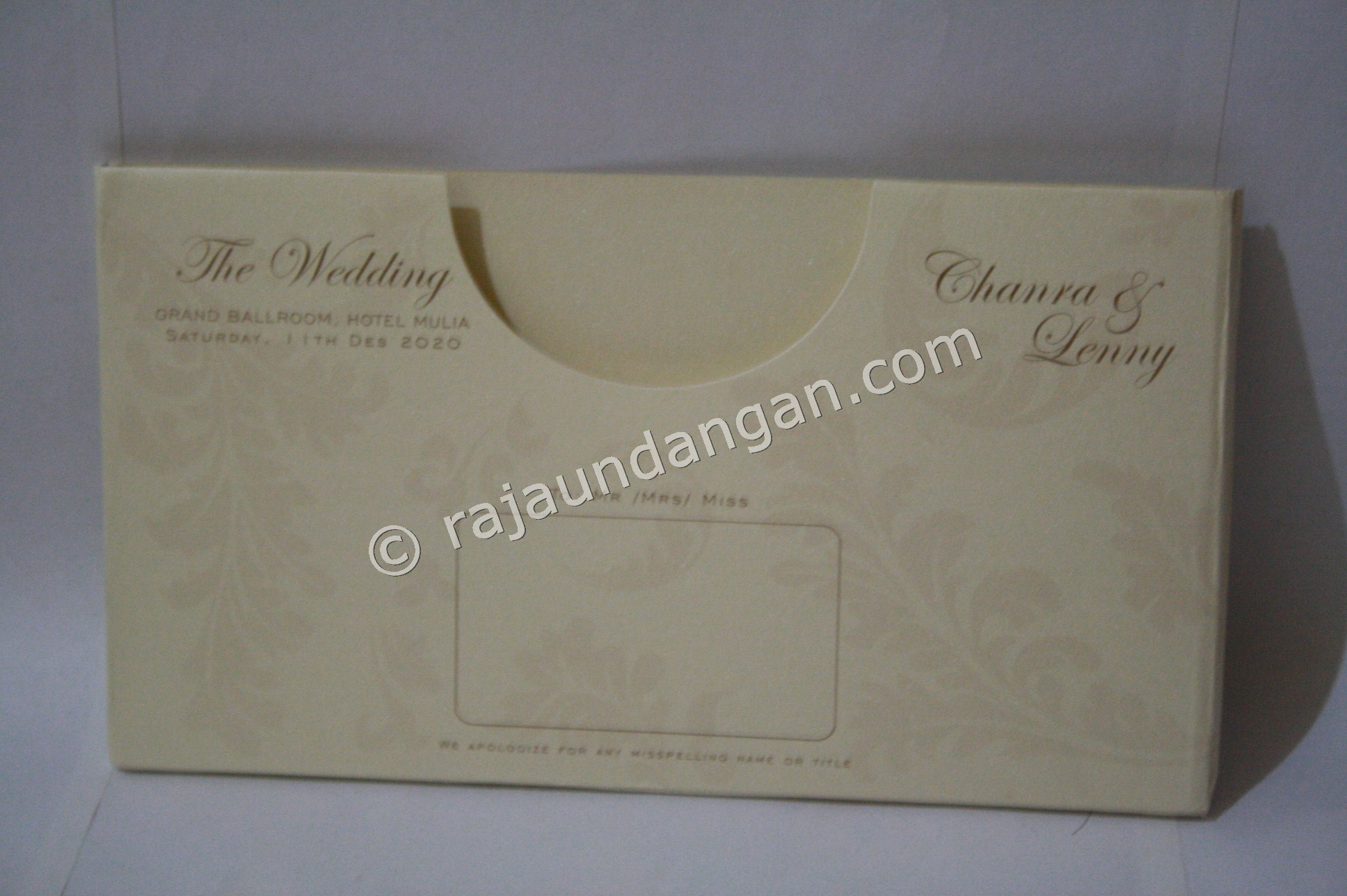 Undangan Murah Eksklusif Hendry Agnes 6 - Percetakan Wedding Invitations Unik dan Simple di Simomulyo