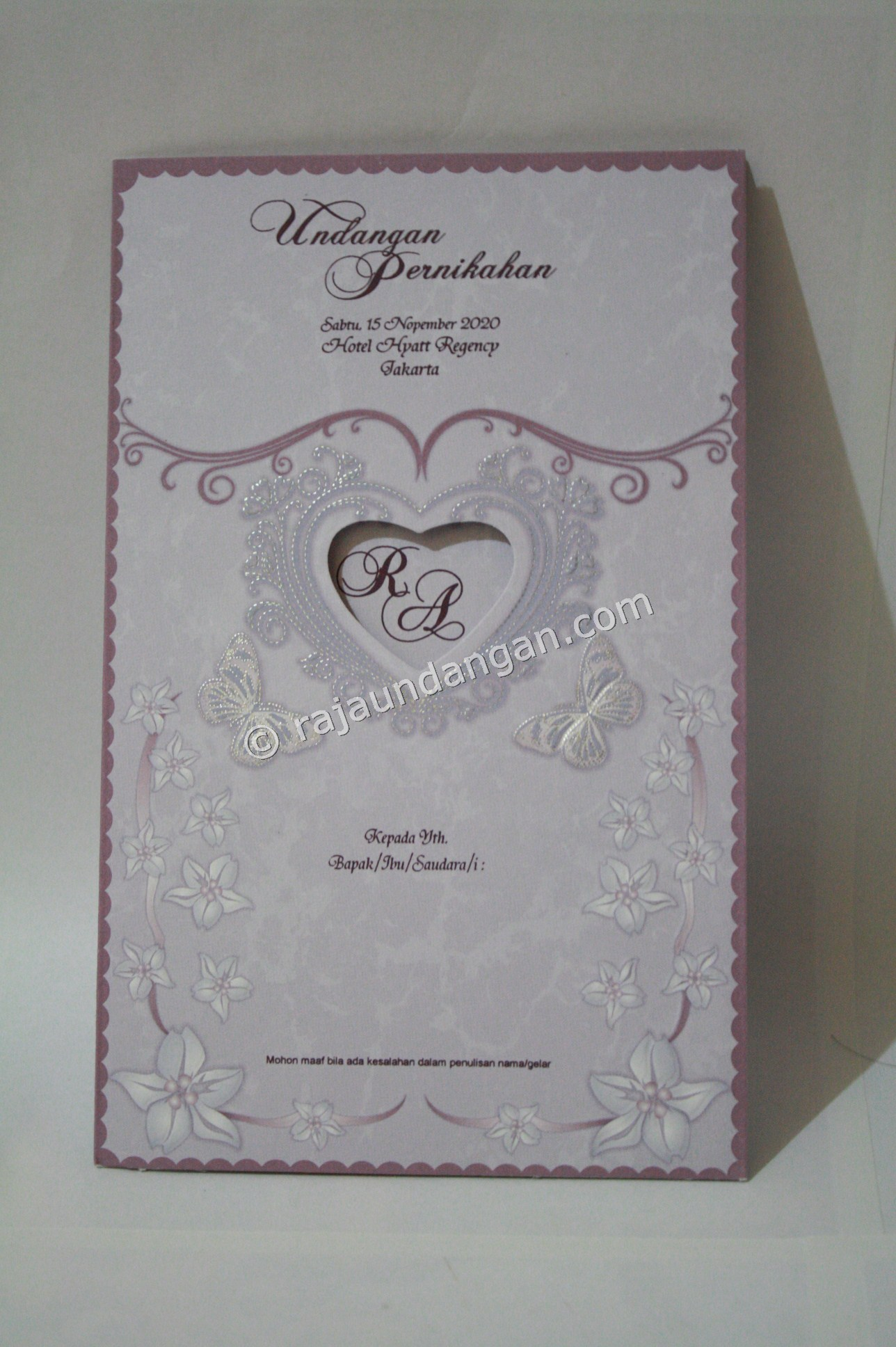 Undangan Pernikahan Softcover ED 26 1 - Pesan Wedding Invitations Simple di Ploso