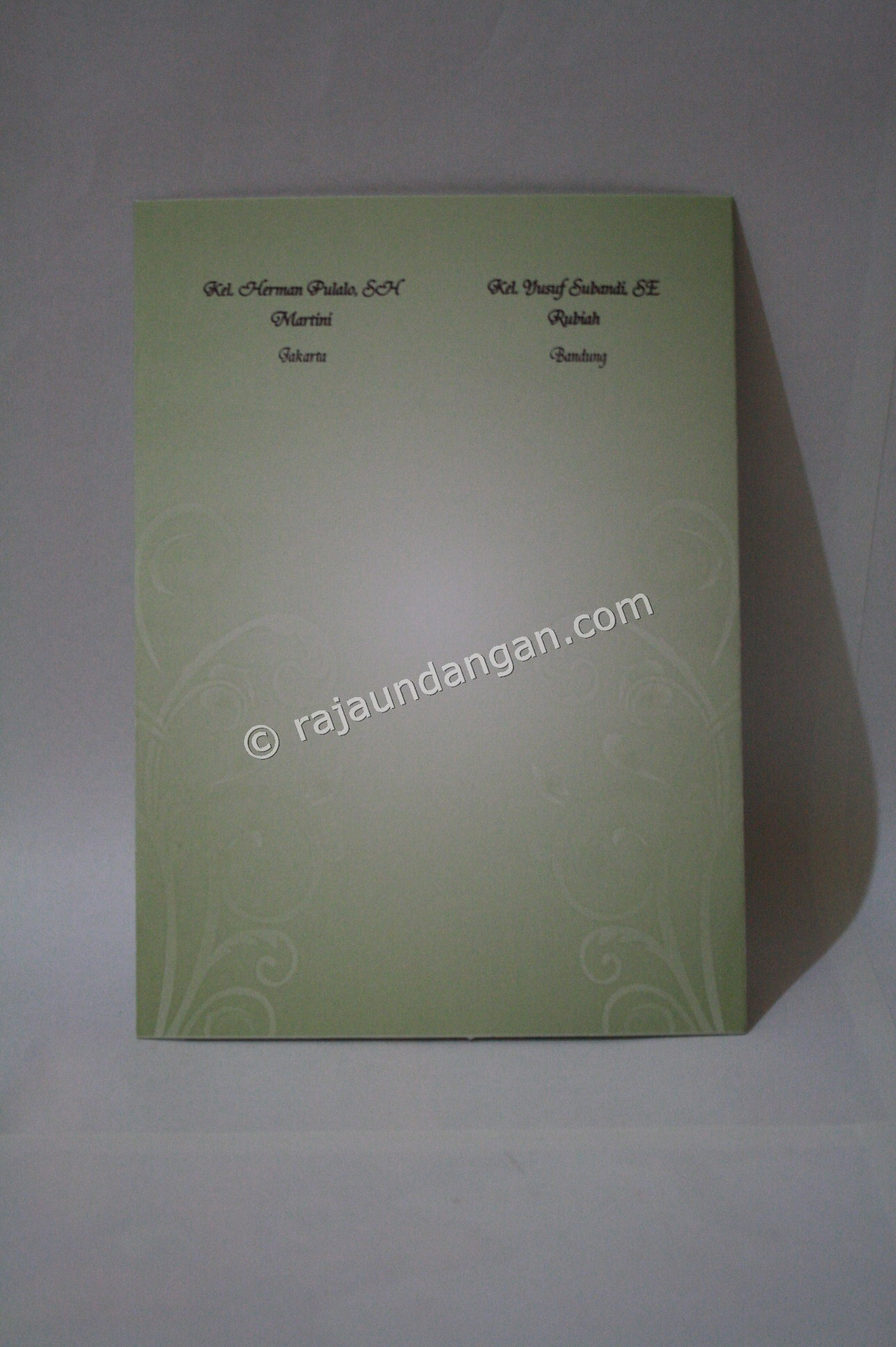 Undangan Pernikahan Softcover Herman dan Tini 2 - Membuat Wedding Invitations Eksklusif di Jeruk