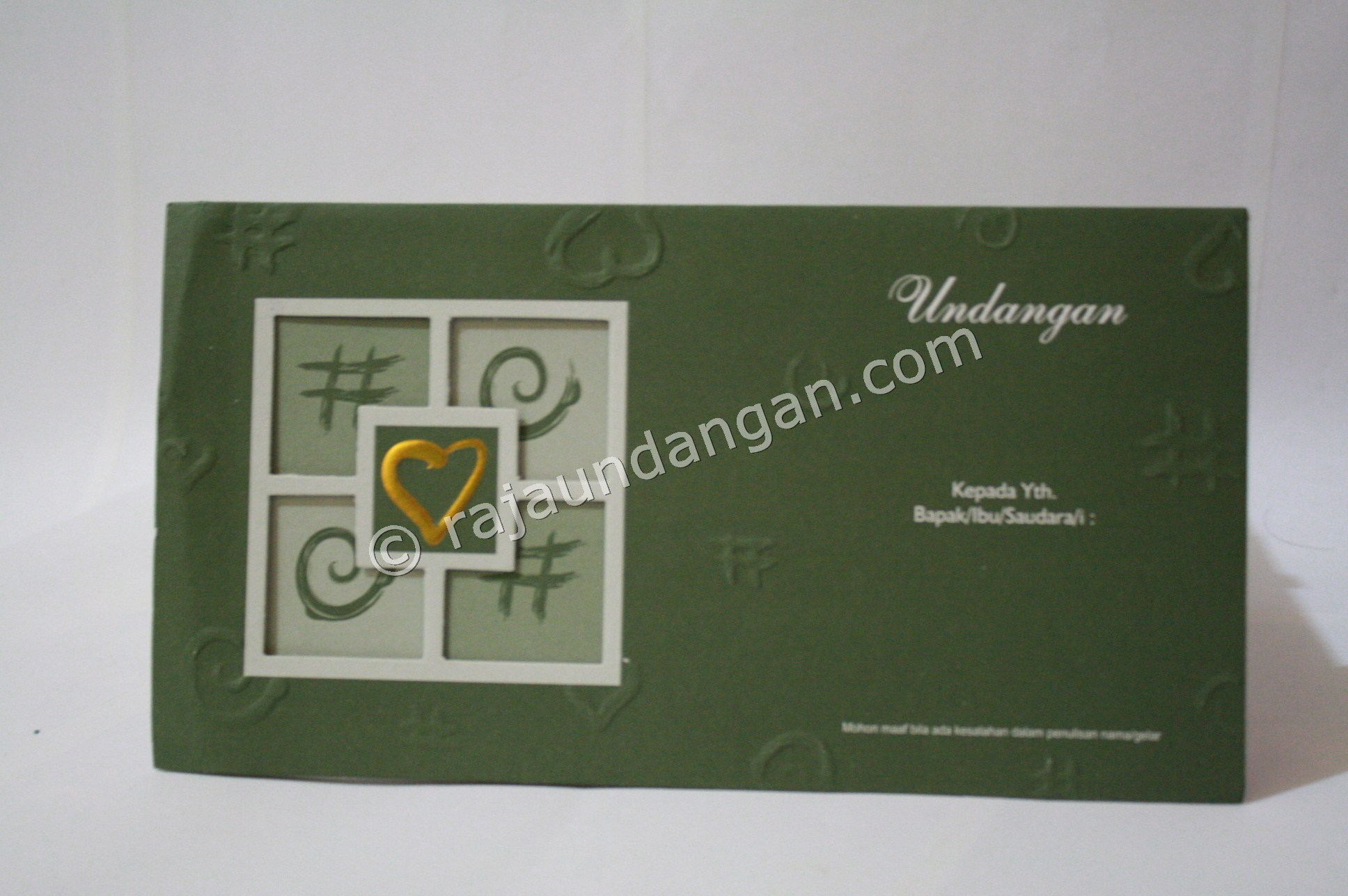 Undangan Pernikahan Softcover Supri dan Dewi 1 - Membuat Wedding Invitations Unik dan Simple di Sawahan