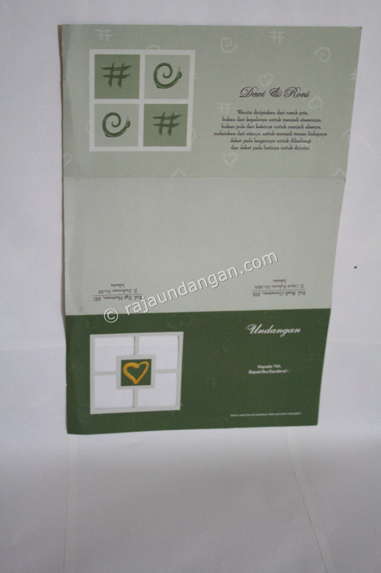 Cetak Wedding Invitations Elegan di Siwalan Kerto