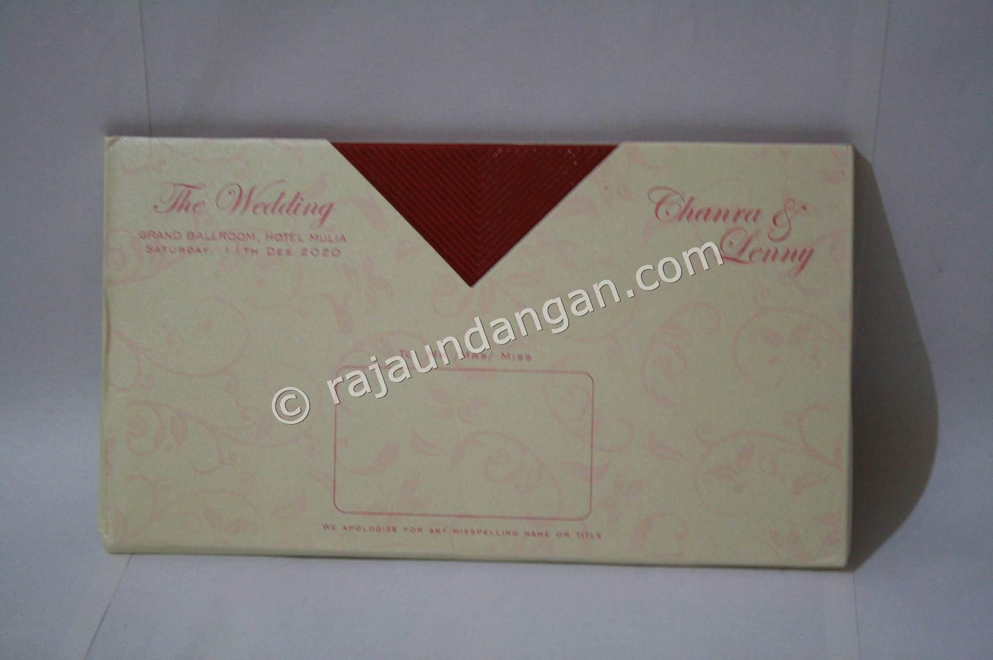 Undangan Pernikahan Hardcover Chandra dan Lenny