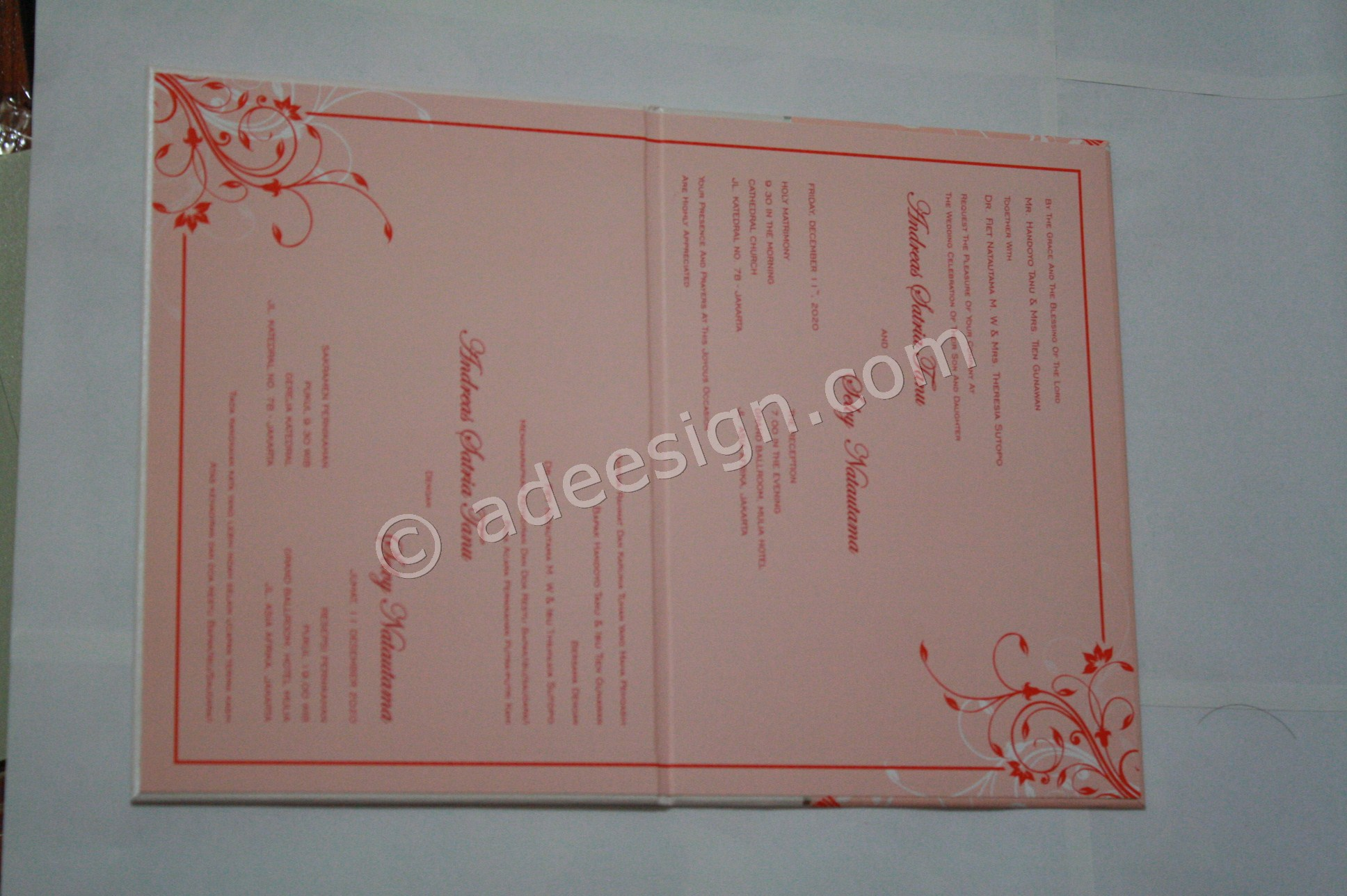 Undangan Pernikahan Hardcover ED63 3 - Pesan Wedding Invitations Simple di Ploso