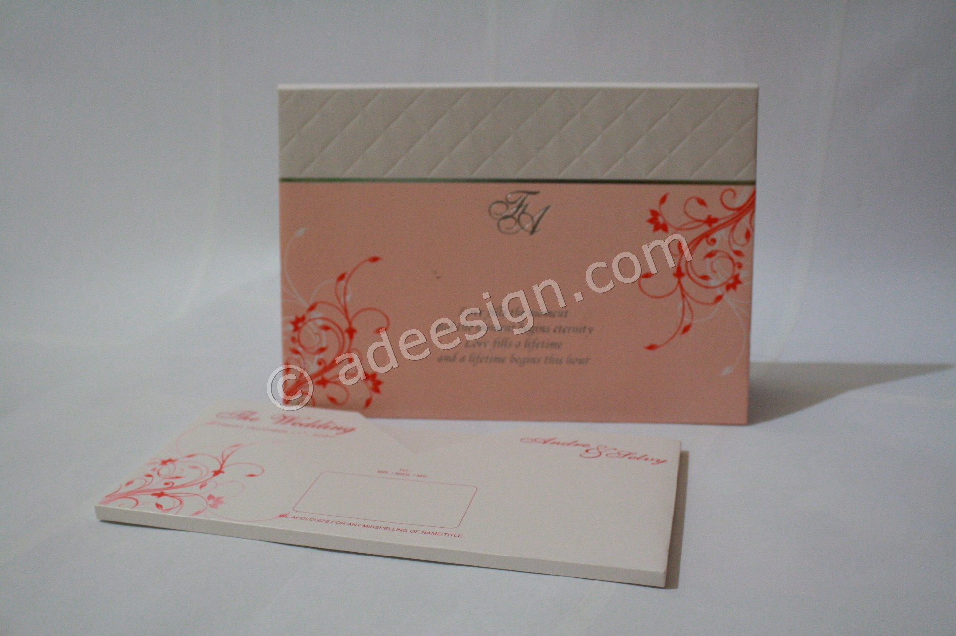 Undangan Pernikahan Hardcover ED631 - Percetakan Wedding Invitations Simple dan Elegan di Sawunggaling