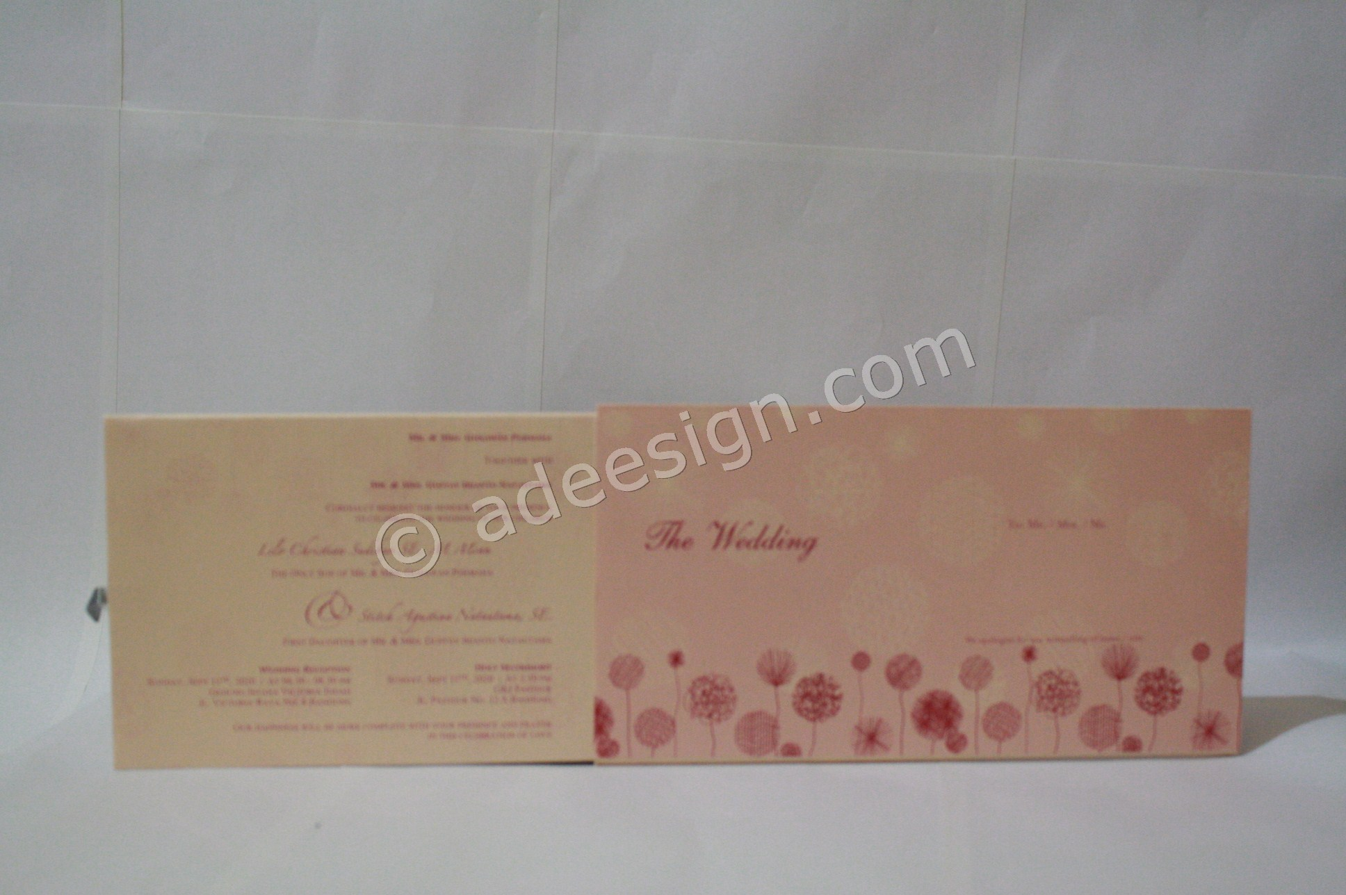 Undangan Pernikahan Hardcover ED67 3 - Percetakan Wedding Invitations Eksklusif di Dukuh Setro