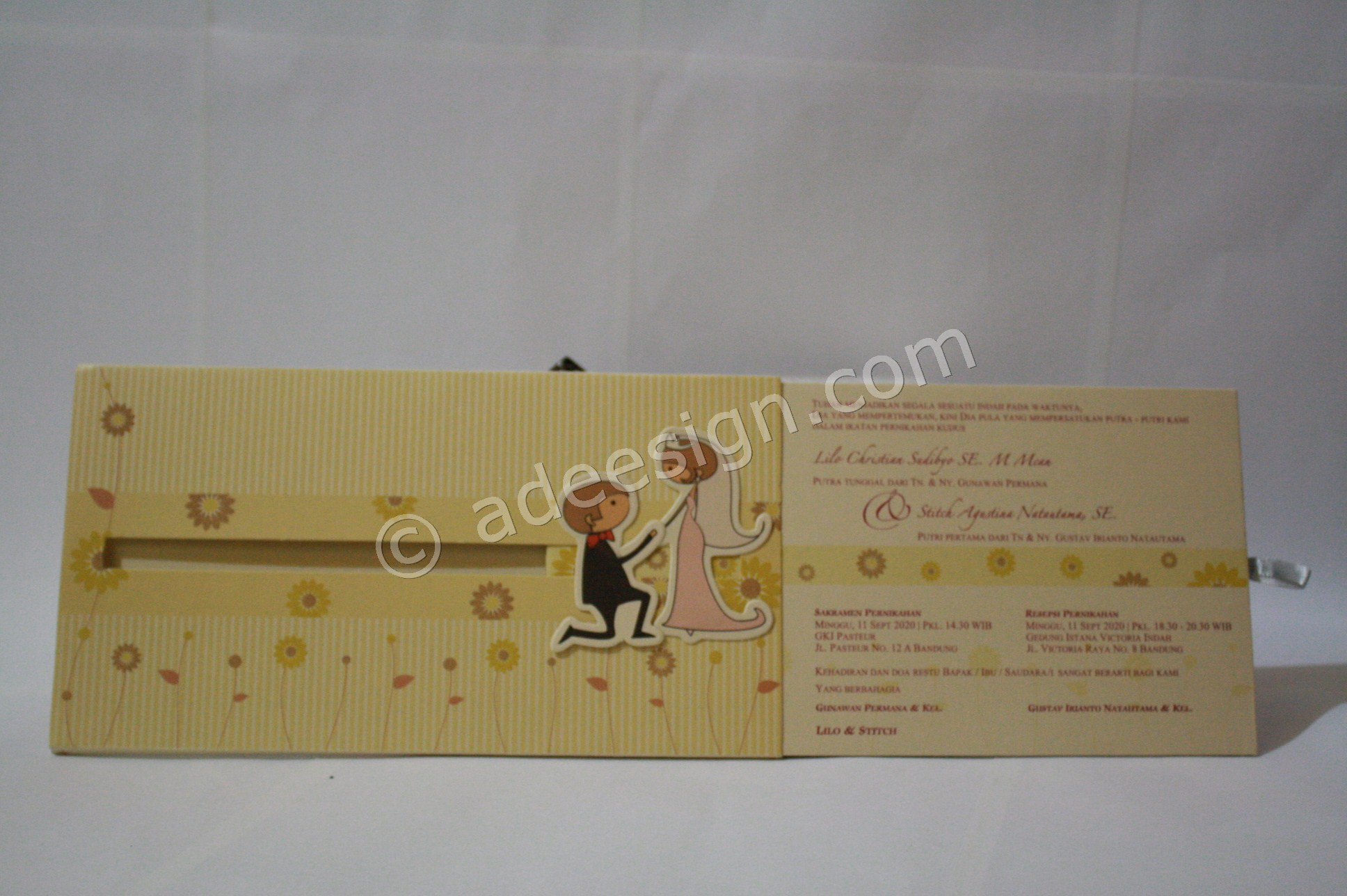 Undangan Pernikahan Hardcover ED69 21 - Percetakan Wedding Invitations Simple dan Elegan di Putat Jaya
