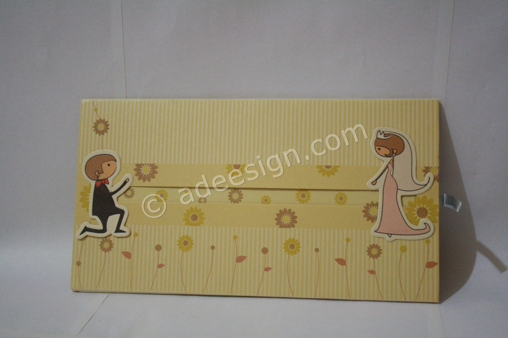 Undangan Pernikahan Hardcover ED69 - Percetakan Wedding Invitations Elegan di Pakal