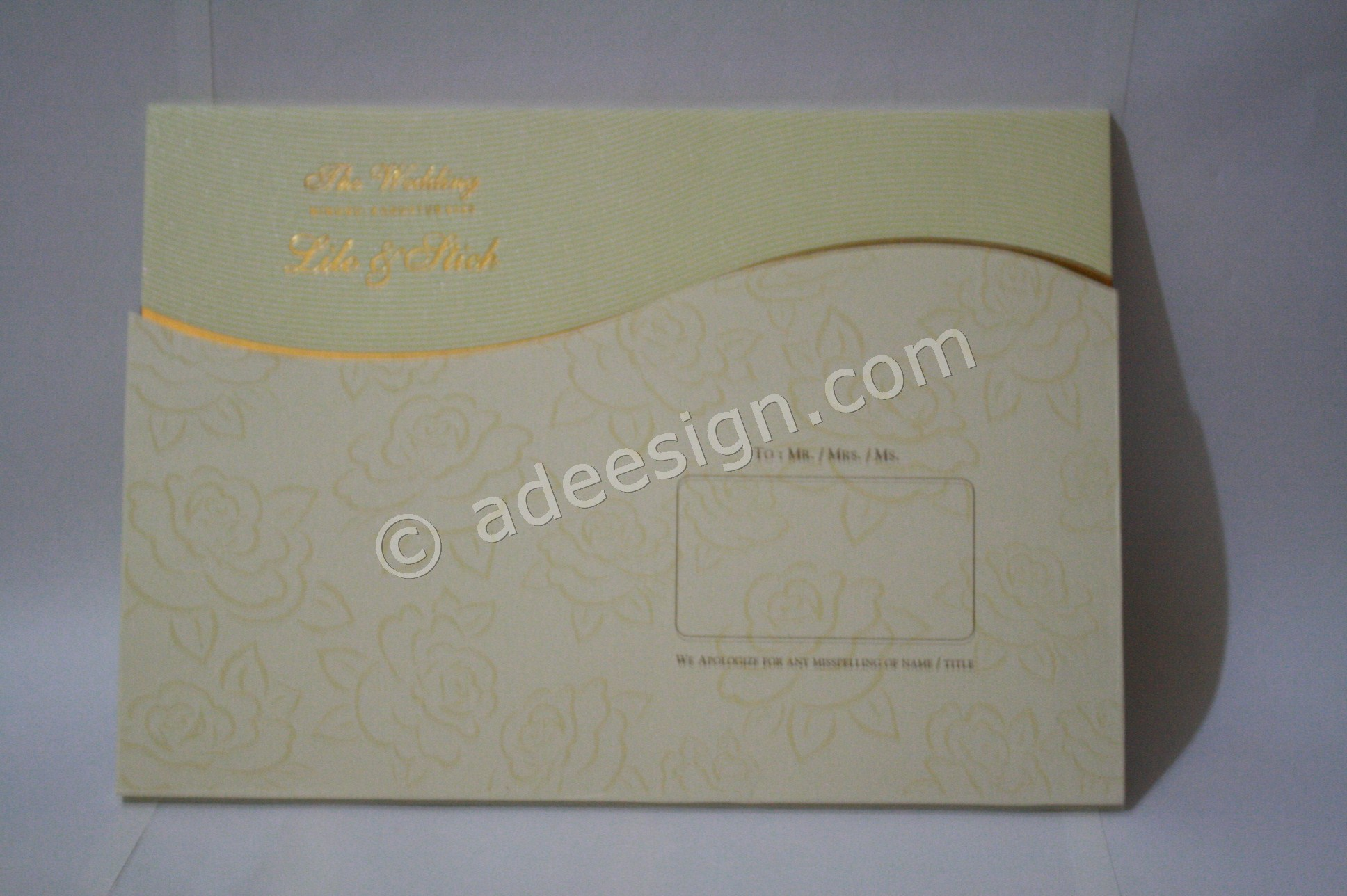 Undangan Pernikahan Hardcover Lilo dan Stich 2 - Pesan Wedding Invitations Simple di Jambangan Karah