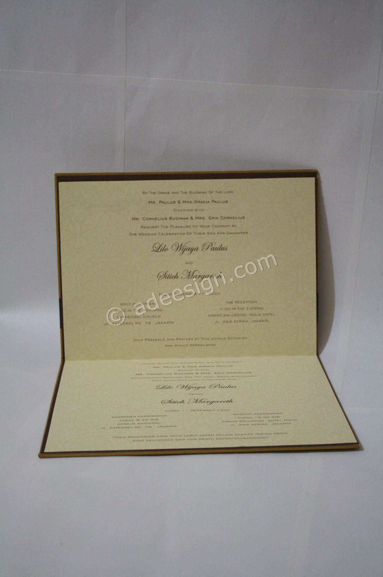 Undangan Pernikahan Hardcover Lilo dan Stich 4 - Pesan Wedding Invitations Simple di Ploso
