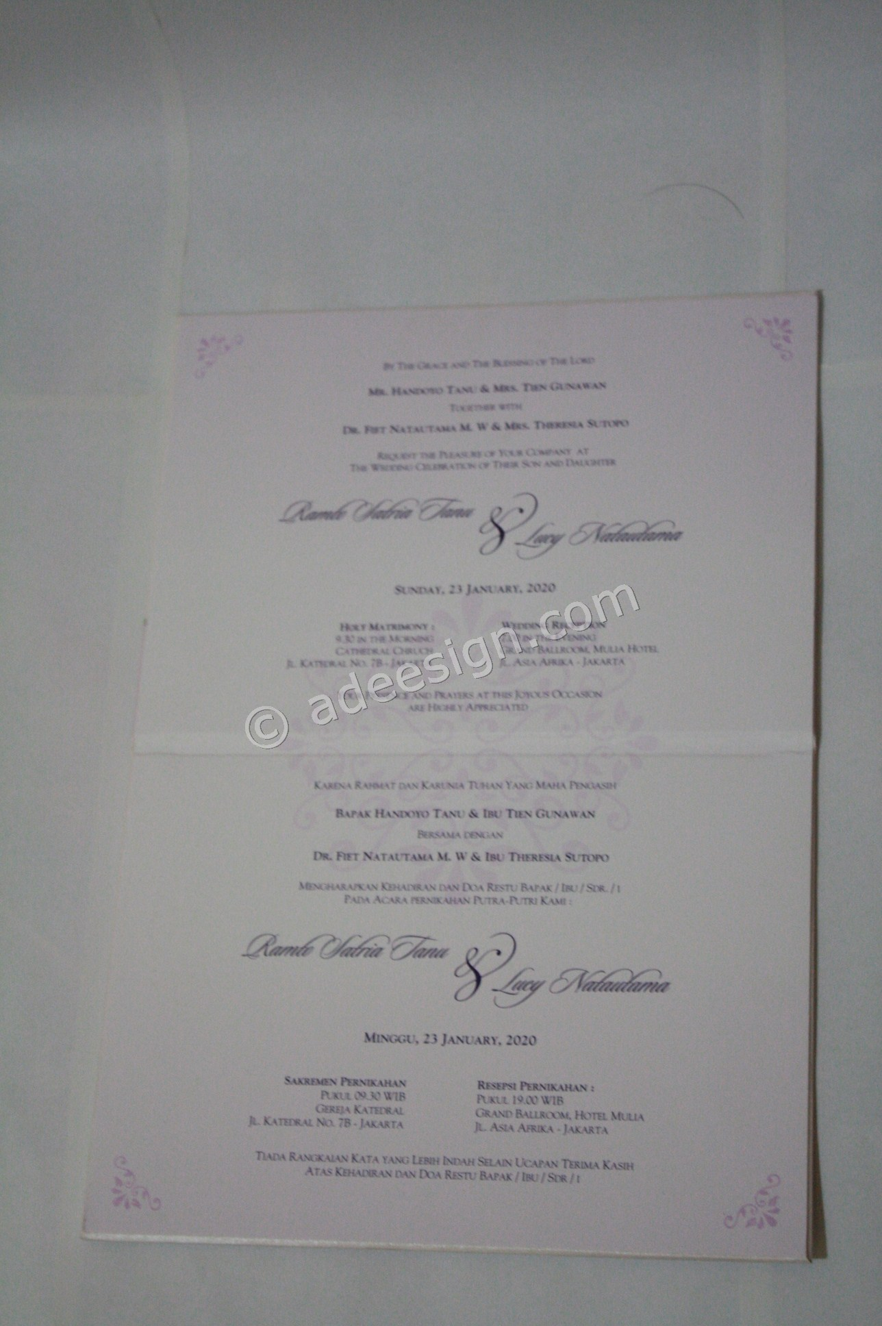 Undangan Pernikahan Hardcover Vonny dan Ferie 5 - Membuat Wedding Invitations Unik dan Simple di Sawahan