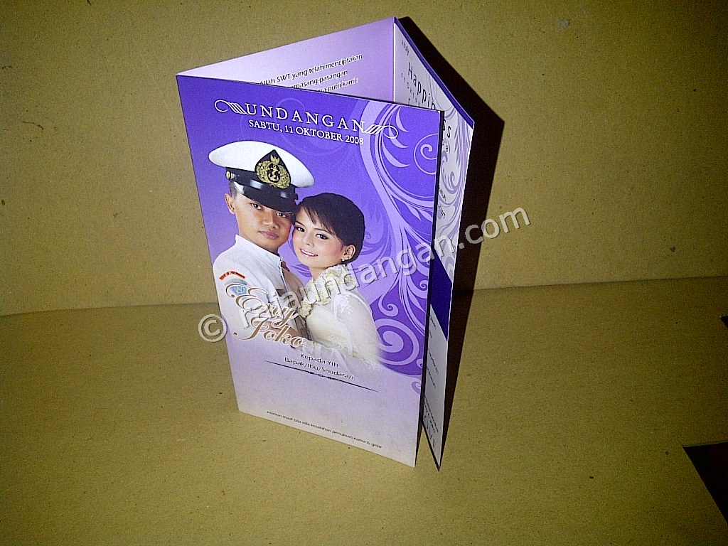 Undangan Softcover Eny dan Joko 1 - Pesan Wedding Invitations Simple di Ploso