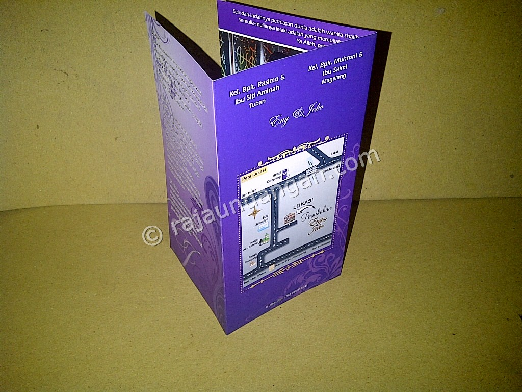 Undangan Softcover Eny dan Joko 2 - Pesan Wedding Invitations Simple di Ploso