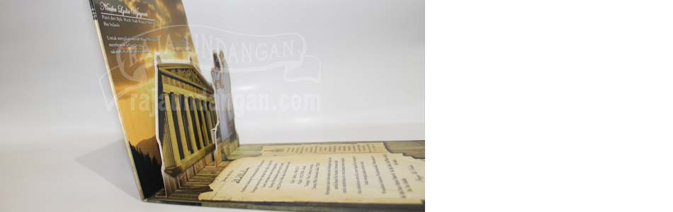 Undangan Pernikahan Hardcover Pop Up Angga dan Novika1 - Pesan Wedding Invitations Simple di Ploso
