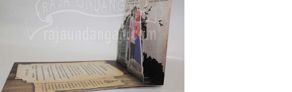 Undangan Pernikahan Softcover Islami Pop Up - Membuat Wedding Invitations Simple dan Elegan di Tambak Sarioso