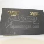 Undangan Hardcover Murah Hitam Emas Belakang