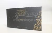 Undangan Pernikahan Hardcover Black Gold Depan