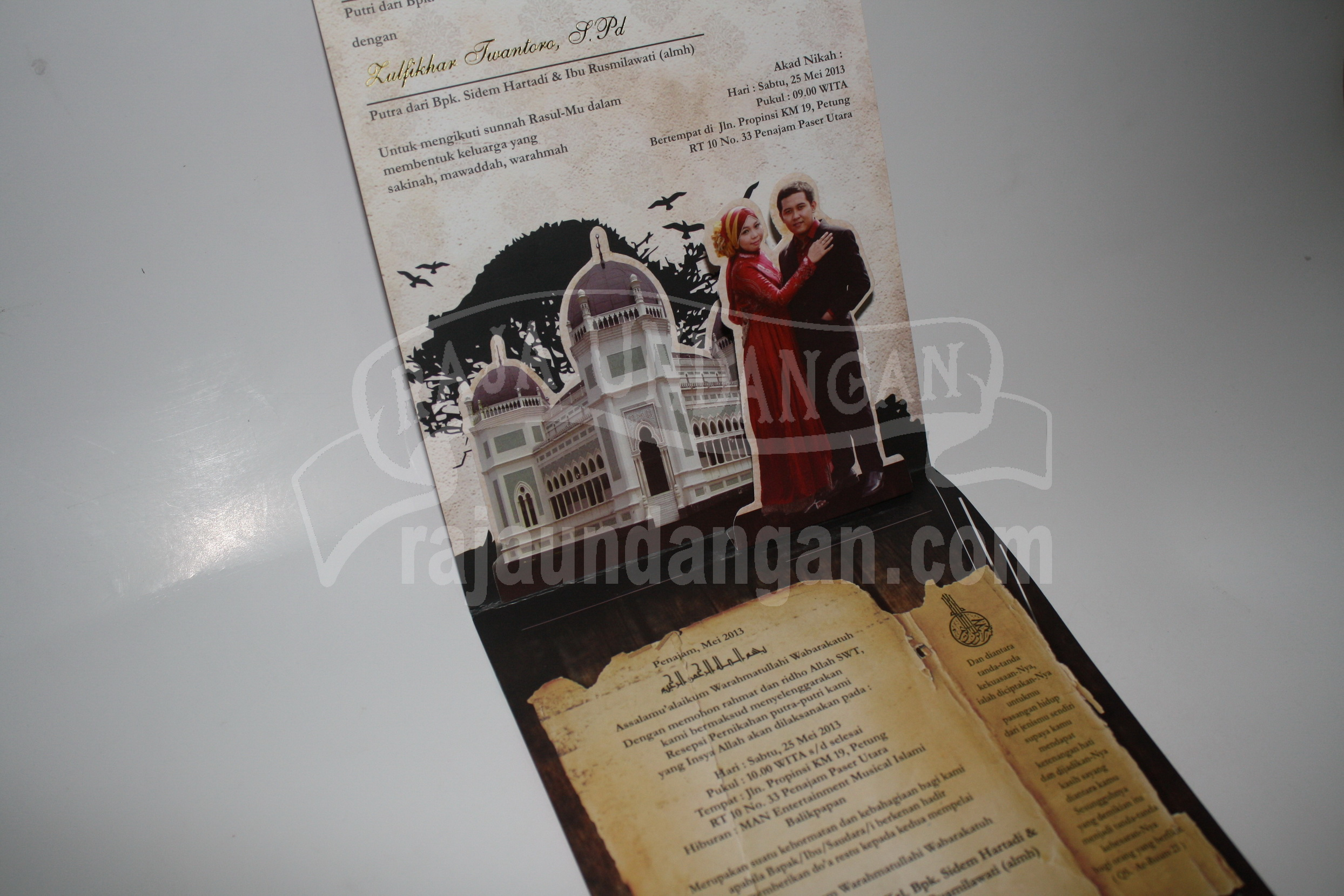 Undangan Unik Pop Up 3D Murah Dalam 2 - Percetakan Wedding Invitations Unik dan Eksklusif di Tandes