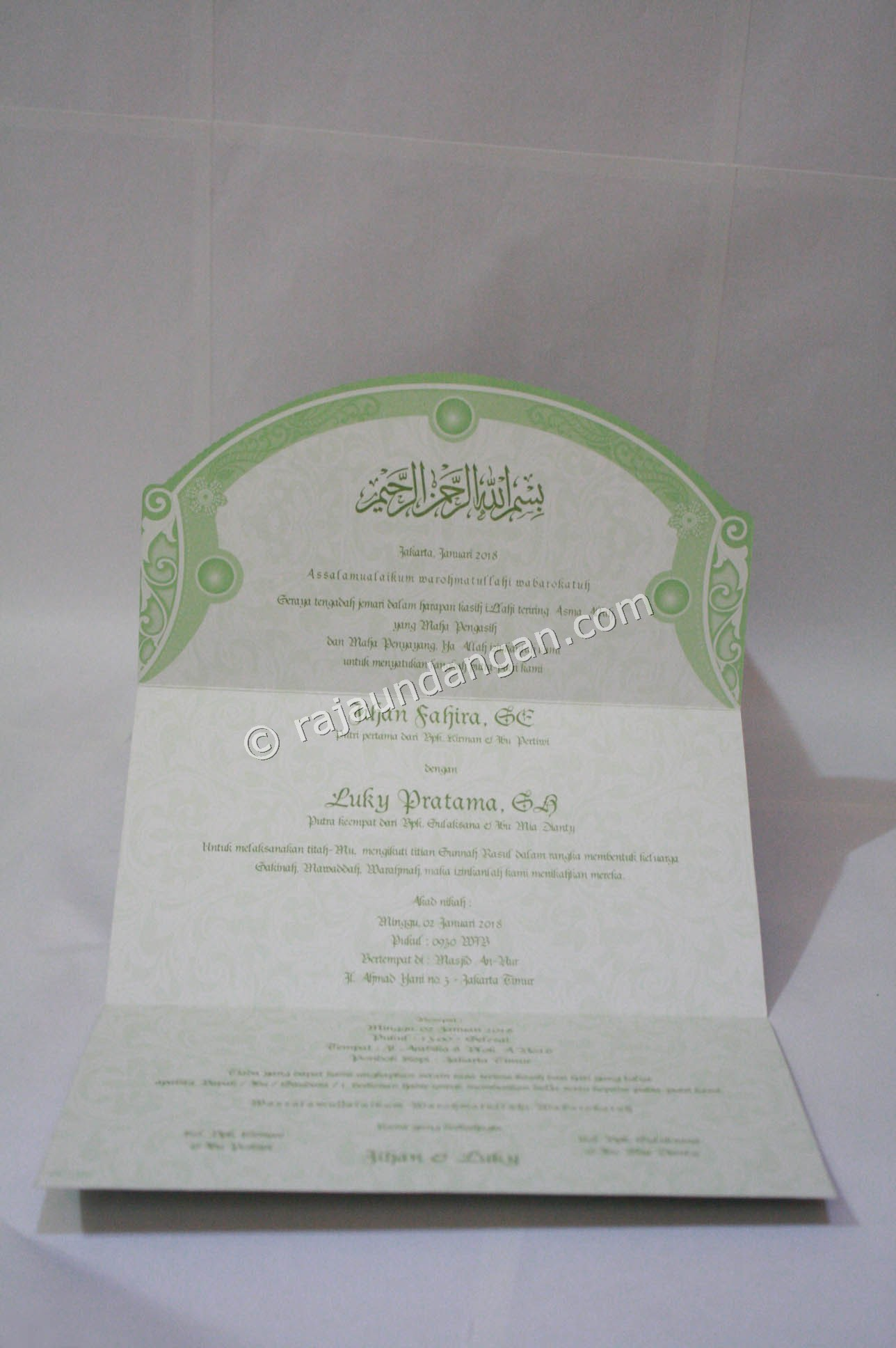 Undangan Pernikahan Softcover Jihan dan Luky 3 - Percetakan Wedding Invitations Unik dan Simple di Simomulyo