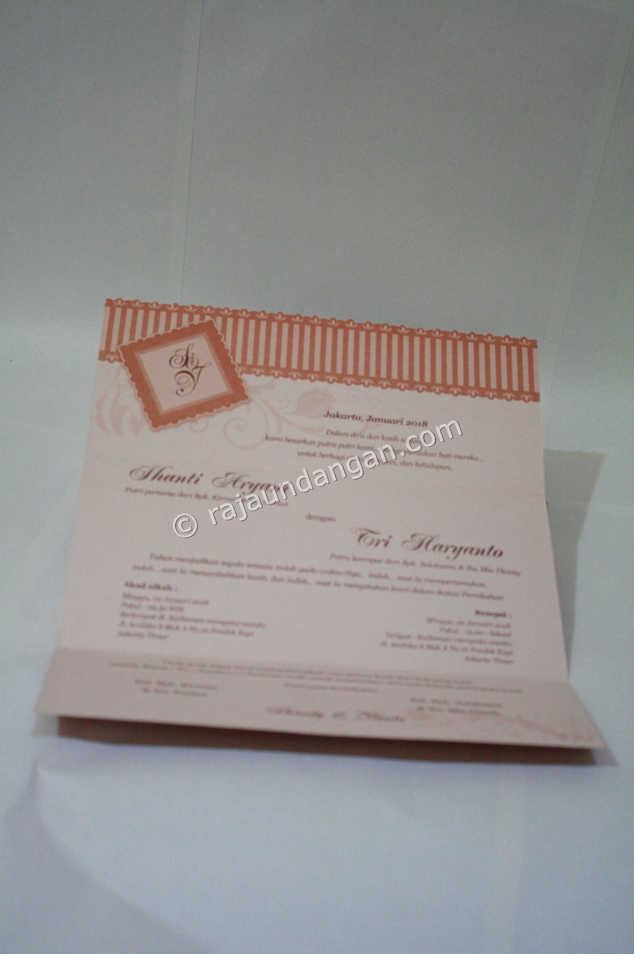 Undangan Pernikahan Softcover Shanti dan Haryanto 3 - Percetakan Wedding Invitations Simple dan Elegan di Putat Jaya