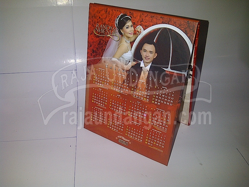 Undangan Pernikahan Hardcover Pop Up Multifungsi Randy dan Nhienhie 2 - Pesan Wedding Invitations Murah di Warugunung