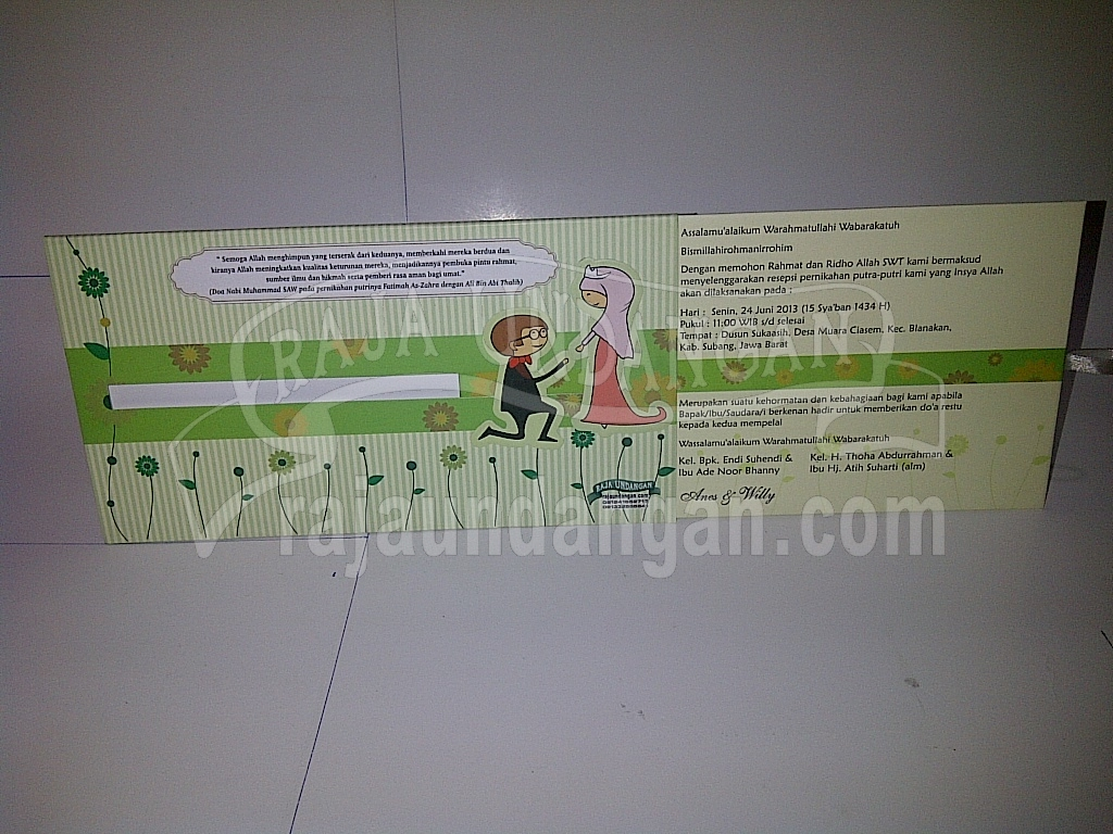 Undangan Pernikahan Islami Hardcover Anes dan Willy 3 - Percetakan Wedding Invitations Elegan di Pakal
