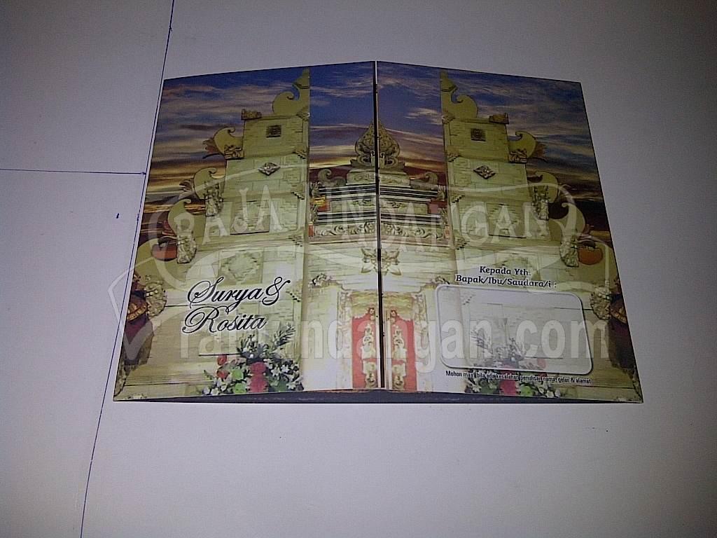 Undangan Pernikahan Motif Bali Surya dan Rosita