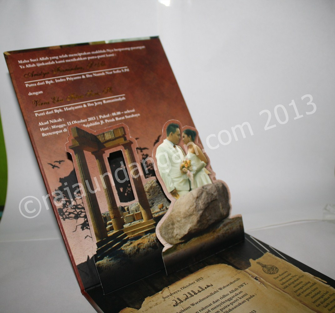 Undangan Pernikahan Pop Up 3D Hardcover