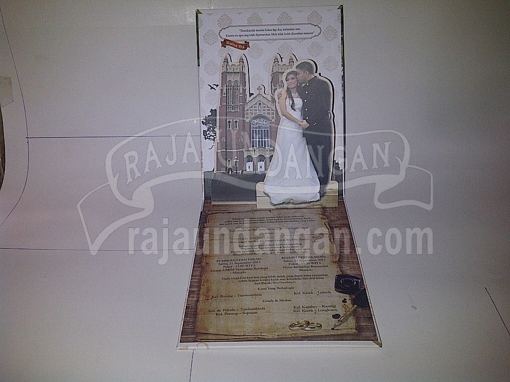 Undangan Pernikahan Pop Up Hardcover Grady Meilan 4 - Percetakan Wedding Invitations Murah di Kapasan