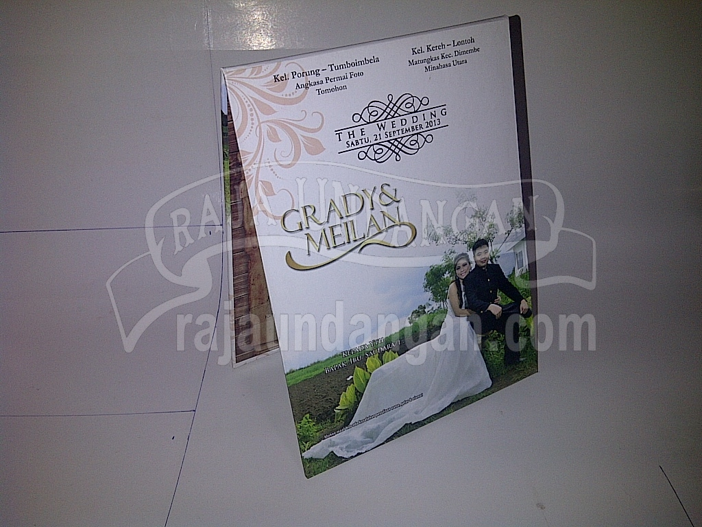 Undangan Pernikahan Pop Up Hardcover Grady dan Meilan - Percetakan Wedding Invitations Unik dan Eksklusif di Sumur Welut