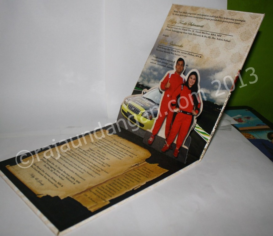 Undangan Pernikahan Pop Up Hardcover Kiky dan Gendy 3 - Tips Mencetak Wedding Invitations Simple