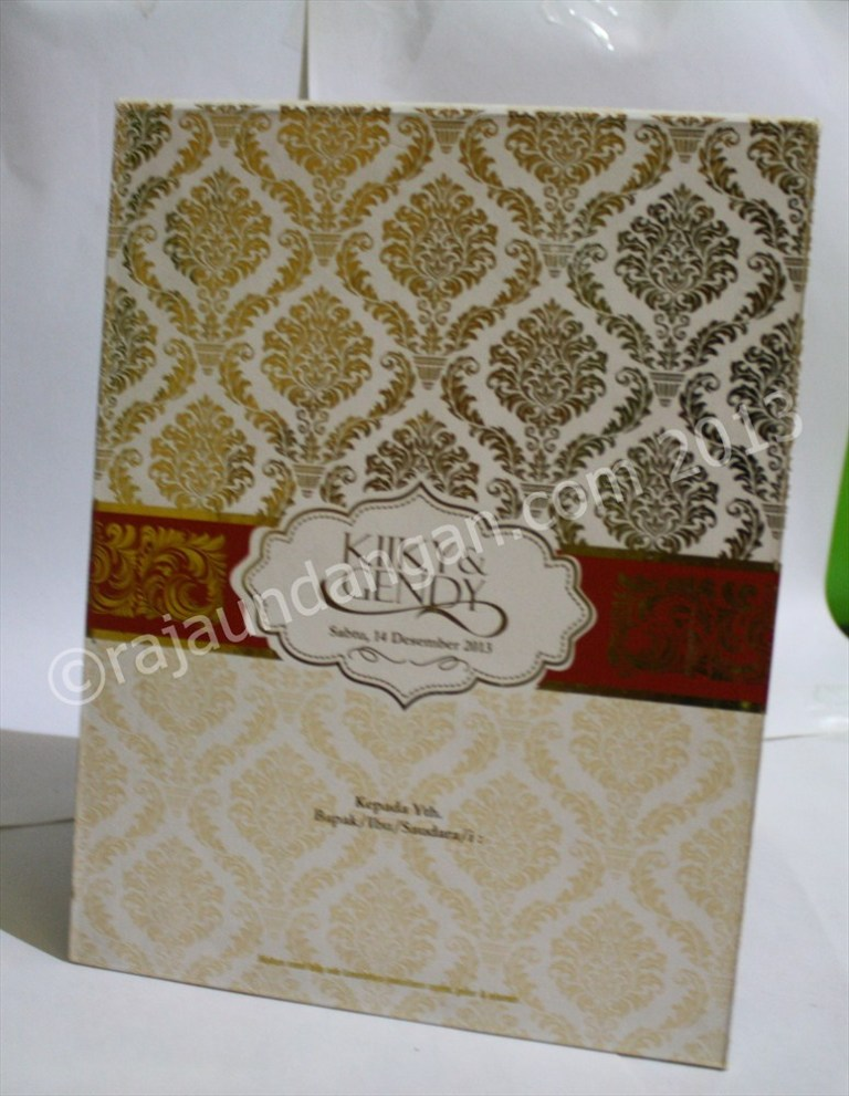 Undangan Pernikahan Pop Up Hardcover Kiky dan Gendy - Percetakan Wedding Invitations Simple dan Elegan di Sawunggaling