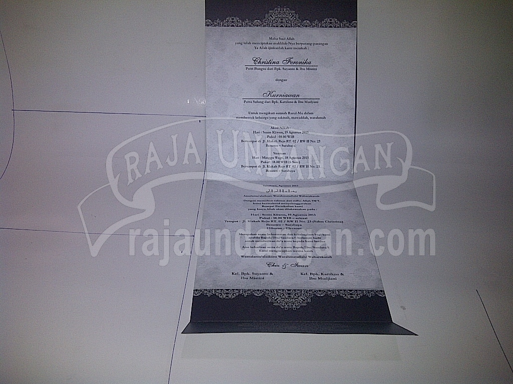 Undangan Pernikahan Softcover Chiz dan Iwan Seri A 32 - Membuat Wedding Invitations Unik dan Simple di Sawahan