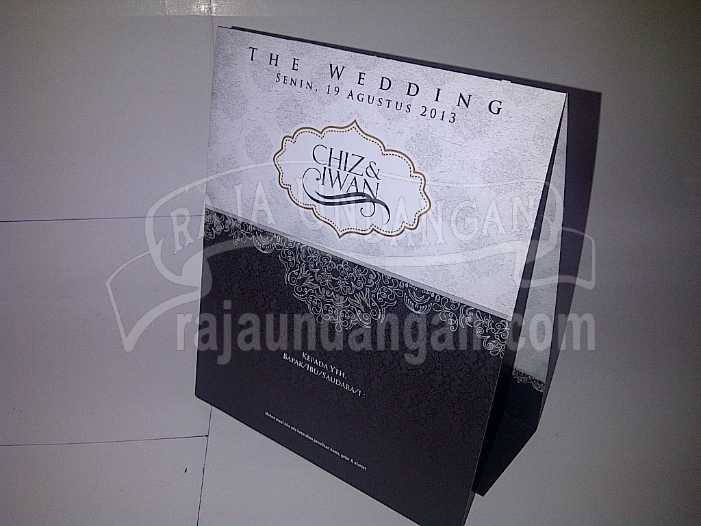Undangan Pernikahan Softcover Chiz dan Iwan Seri A - Tutorial Mengerjakan Wedding Invitations Simple dan Elegan
