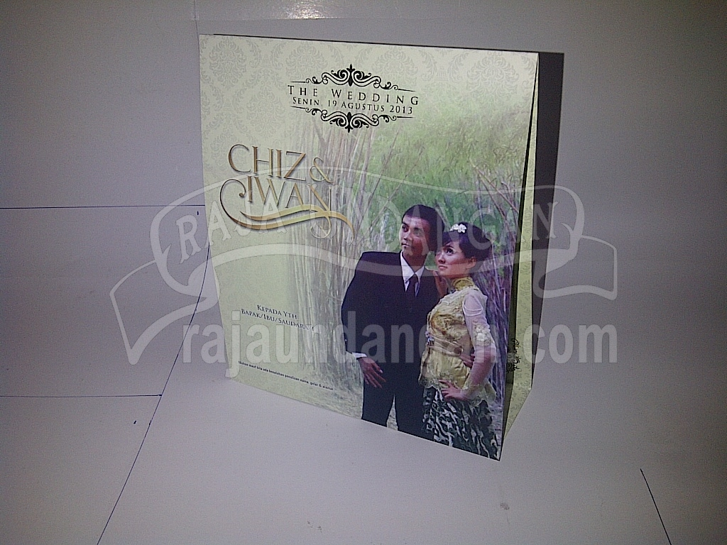 Undangan Pernikahan Softcover Chiz dan Iwan Seri B - Tutorial Mengerjakan Wedding Invitations Simple dan Elegan
