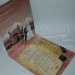 Undangan Pernikahan Softcover Mini Pop Up Didin dan Fitri