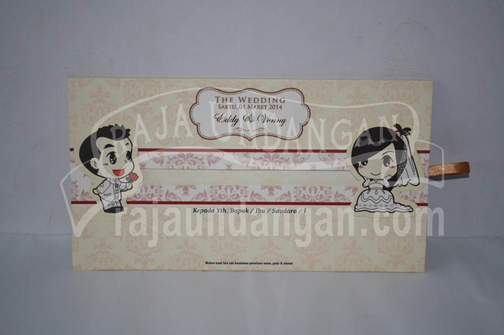 Undangan Pernikahan Hardcover Motif Kartun Geser Eddy dan Vonny (EDC 46)